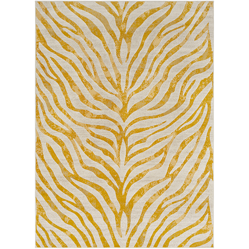 City Beige and Mustard Rectangular: 2 Ft. x 3 Ft. Rug