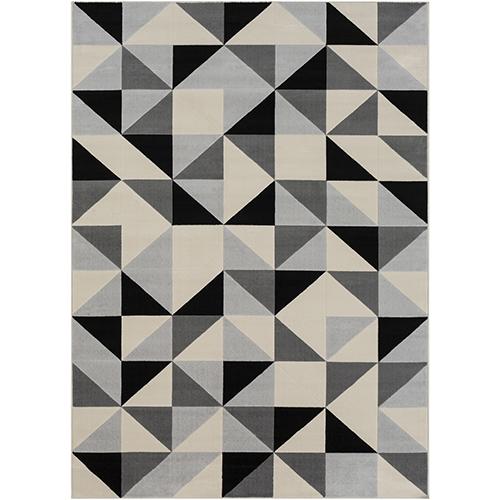 City Grey and Beige Rectangular: 7 Ft. 10 In. x 10 Ft. 3 In. Rug