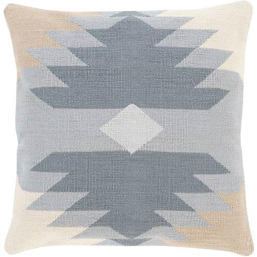 Cotton Kilim Gray 18-Inch Pillow Cover