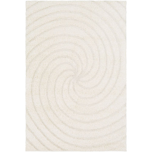 Cut and Loop Shag Neutral Rectangle: 2 Ft. x 3 Ft. Rug