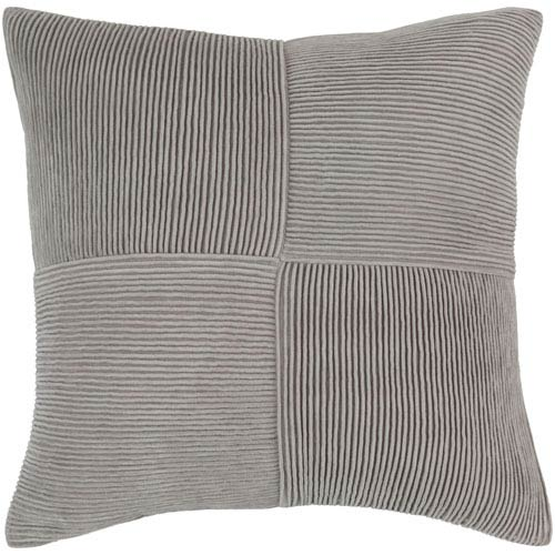 Conrad Gray 20-Inch Pillow Cover
