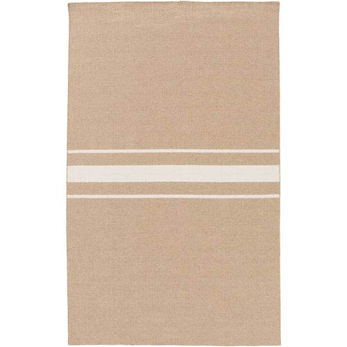 Colton Taupe and Ivory Rectangular: 2 Ft x 3 Ft Rug