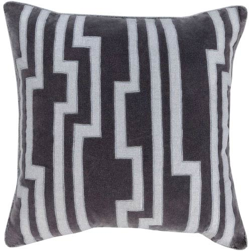 Velocity Black and Gray 18-Inch Pillow Cover