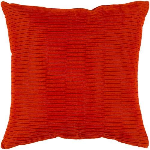 Surya Caplin Burnt Orange 20 x 20-Inch Throw Pillow