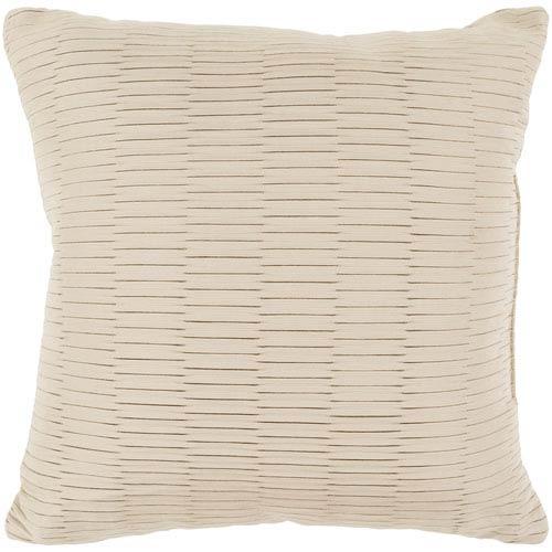 Caplin Beige 20 x 20-Inch Throw Pillow
