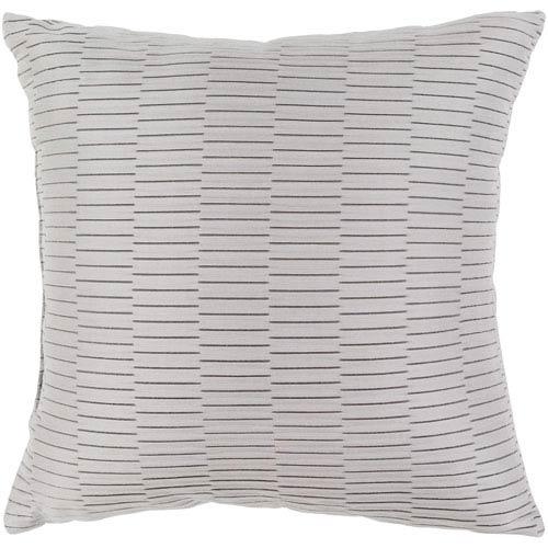 Surya Caplin Light Gray 20 x 20-Inch Throw Pillow