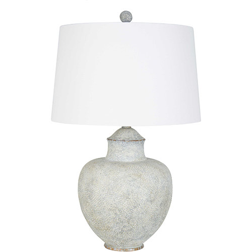 Cooper Gray and White Patina 28-Inch One-Light Table Lamp