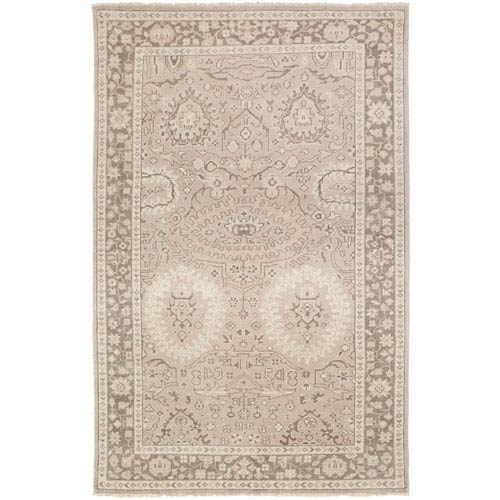 Cappadocia Light Gray and Olive Rectangular: 5 Ft 6 In x 8 Ft 6 In Rug
