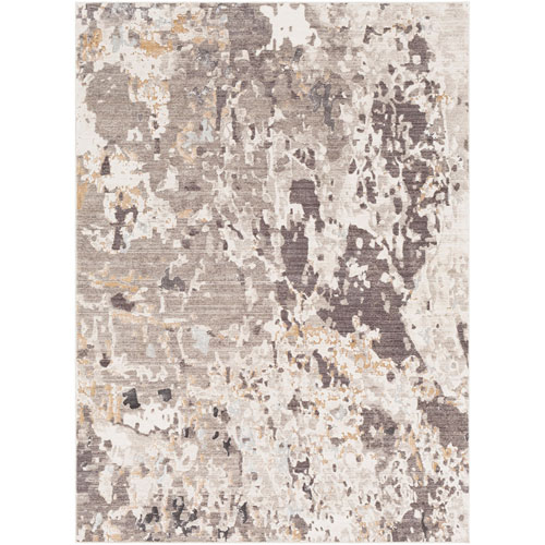 Crescendo Brown and Gray Runner: 3 Ft. 3 In.  x 9 Ft. 2 In.  Rug