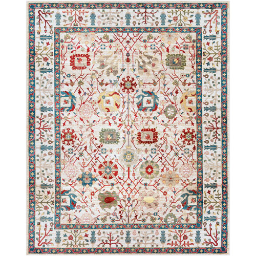 Surya Crafty Orange Rectangle: 7 Ft. 10 In. x 9 Ft. 10 In. Rug