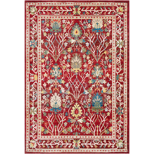 Surya Crafty Red Rectangle: 5 Ft. 1 In. x 7 Ft. 4 In. Rug