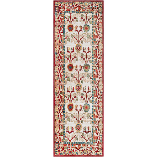 Surya Crafty Red Runner: 2 Ft. 6 In. x 7 Ft. 10 In. Rug
