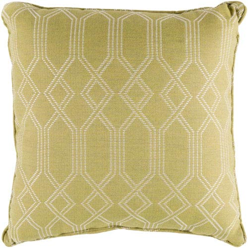 Surya Crissy Lime and White 16 x 16 In. Throw Pillow