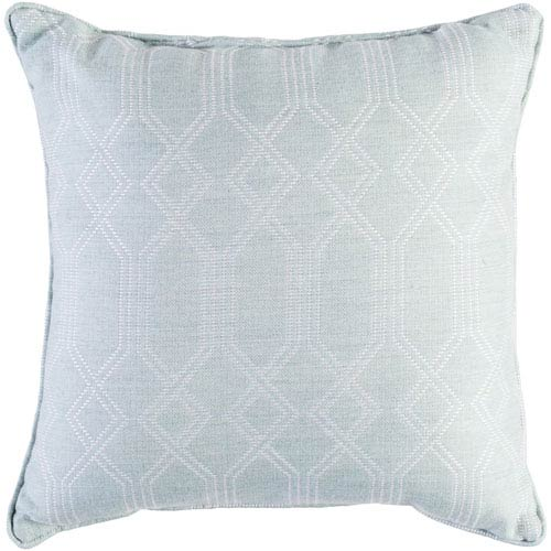 Surya Crissy Sea Foam and White 16 x 16 In. Throw Pillow