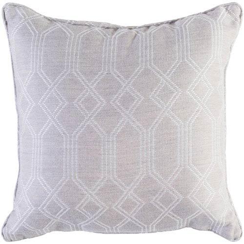 Crissy Khaki and White 20 x 20 In. Throw Pillow