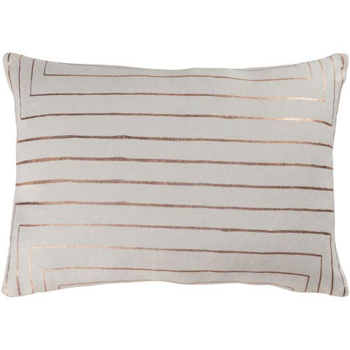 Crescent Cream and Copper 13 x 19 In. Throw Pillow