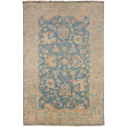 Cheshire Teal and Beige Rectangular: 2 Ft x 3 Ft Rug