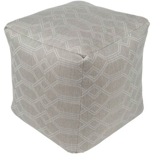 Surya Crissy Ivory and White Pouf