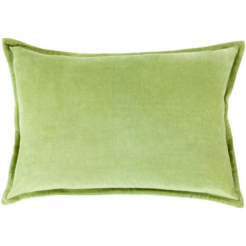 Cotton Velvet Olive 13 x 19 In. Throw Pillow