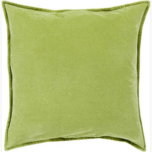 Smooth Velvet Olive 22-Inch Pillow with Down Fill
