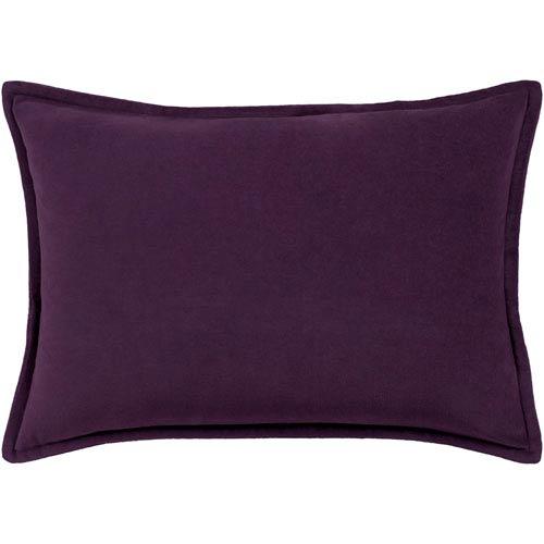 Cotton Velvet Dark Purple 13 x 19 In. Throw Pillow