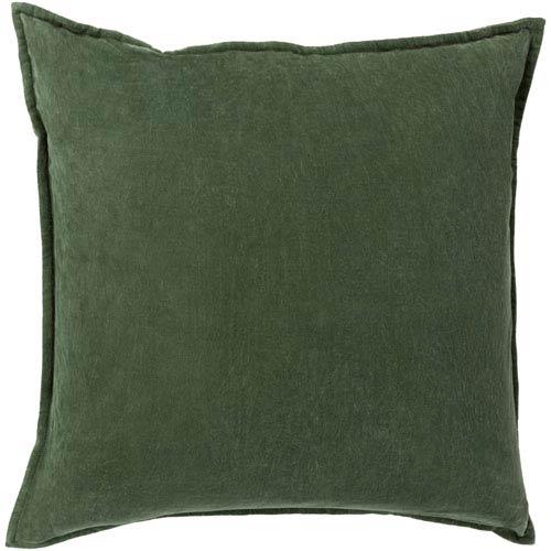 Surya Cotton Velvet Green 22 Inch Pillow Cover