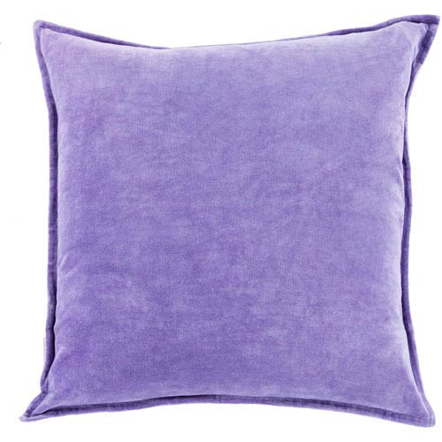 Surya Ava Grace Iris 22-Inch Pillow with Poly Fill