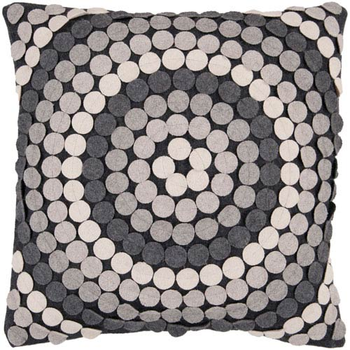 Halo Black and Gray 18-Inch Pillow Cover