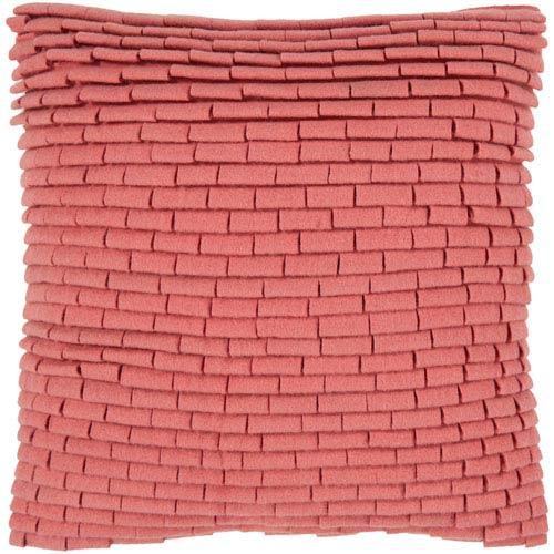 Surya Persimmon Wool Loops 18 x 18 Pillow