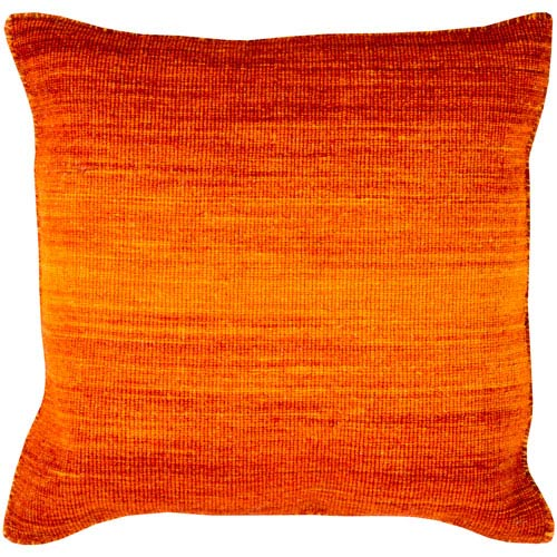 Chaz Orange 22-Inch Pillow Cover