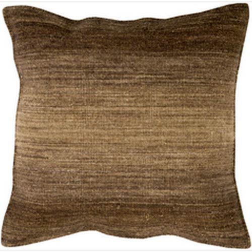 Chaz Chocolate and Tan 22-Inch Pillow with Down Fill