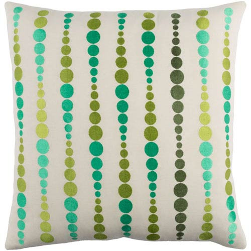 Dewdrop Green 22-Inch Pillow with Poly Fill