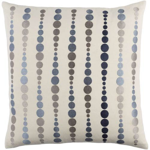 Dewdrop Blue and Gray 22-Inch Pillow Cover