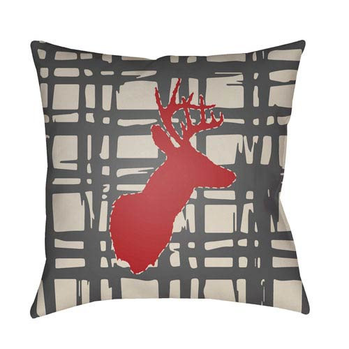 Deer Multicolor 18 x 18-Inch Throw Pillow