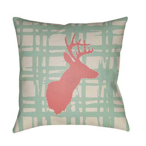Surya Deer Multicolor 20 x 20-Inch Throw Pillow