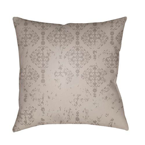 Surya Moody Damask Medium Gray and Light Gray 20 x 20-Inch Pillow