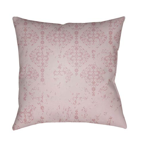 Surya Moody Damask Rose and Lilac 20 x 20-Inch Pillow