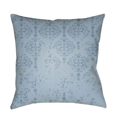 Moody Damask Aqua 18 x 18-Inch Pillow