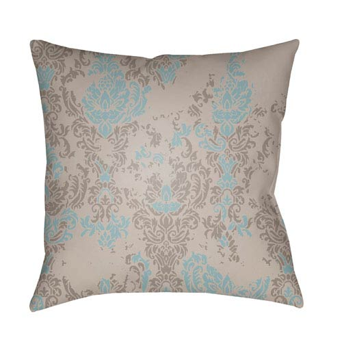 Surya Moody Damask Multicolor 18 x 18-Inch Pillow