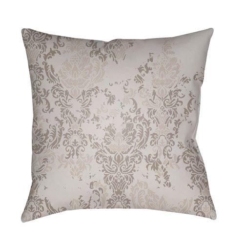 Moody Damask Light Gray and Medium Gray 20 x 20-Inch Pillow