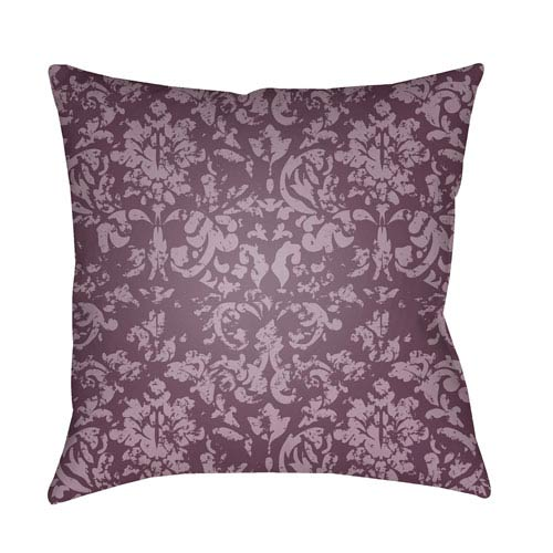 Moody Damask Dark Purple and Bright Purple 22 x 22-Inch Pillow