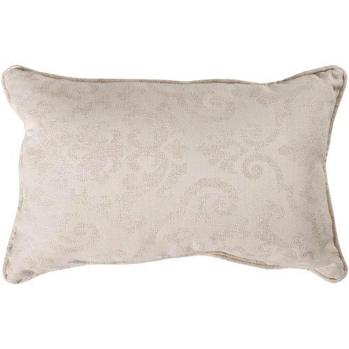 Damara Cream and Khaki 16 x 16 In. Throw Pillow