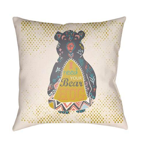 Surya Doodle Multicolor 20 x 20-Inch Pillow