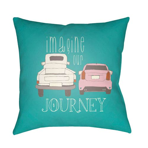 Surya Doodle Multicolor 18 x 18-Inch Pillow