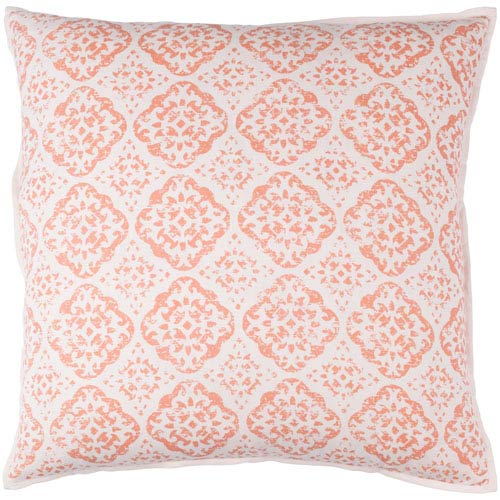 Surya D orsay Blush and Bright Pink 18 x 18-Inch Pillow Cover