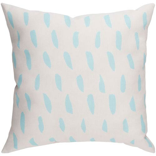 Spots Blue and Beige 18 x 18-Inch Throw Pillow