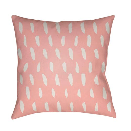 Surya Spots Pink and Beige 20 x 20-Inch Throw Pillow