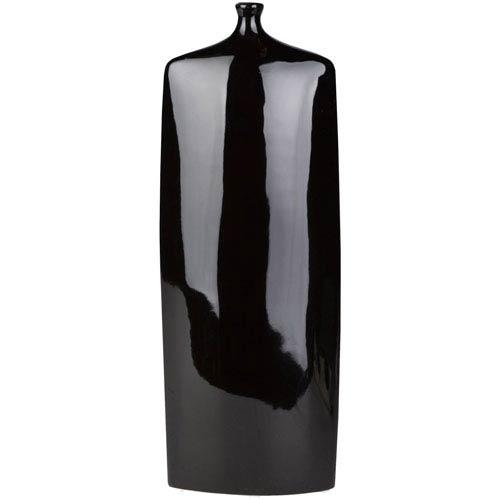 Druid Black Tall Table Vase