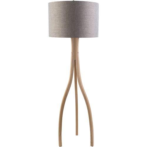 Duxbury Natural Wood One-Light Floor Lamp
