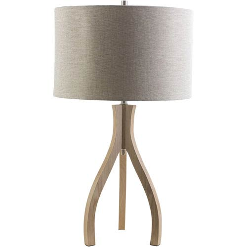 Duxbury Natural One-Light Table Lamp with Beige Shade